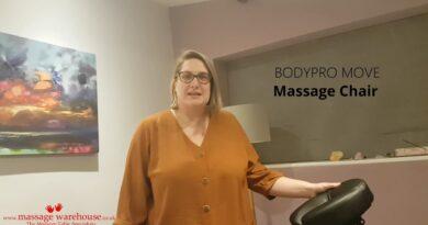 Holistic therapist Alexandra reviews the BodyPro Move Massage Chair from Massage Warehouse.