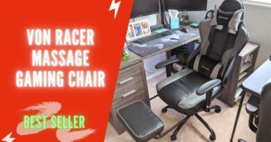 VON RACER Massage Gaming Chair Ergonomic Review 2021   VON RACER Gaming Chair with Footrest Assembly