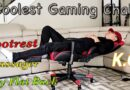 Gaming Chair w/ Foot Rest & Massager – Super Cool and Comfy!